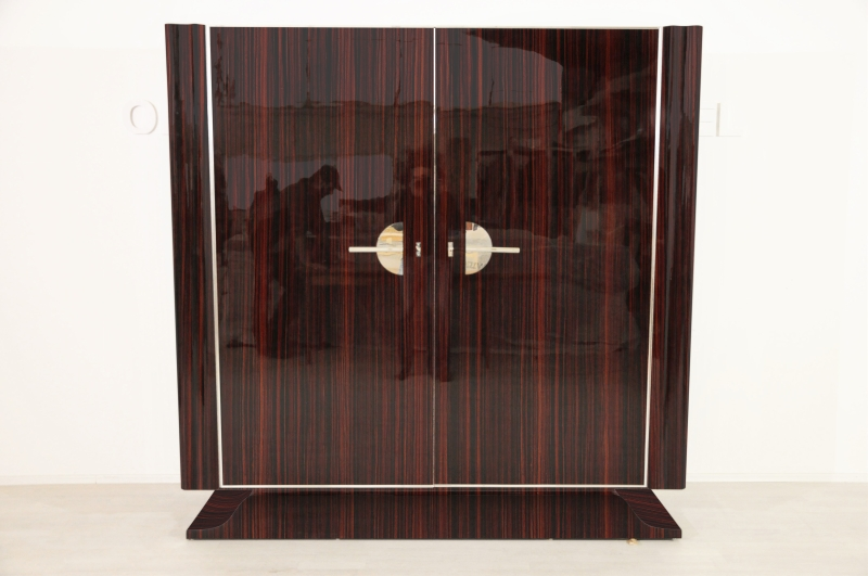 art deco stil makassar schrank original antike m bel. Black Bedroom Furniture Sets. Home Design Ideas