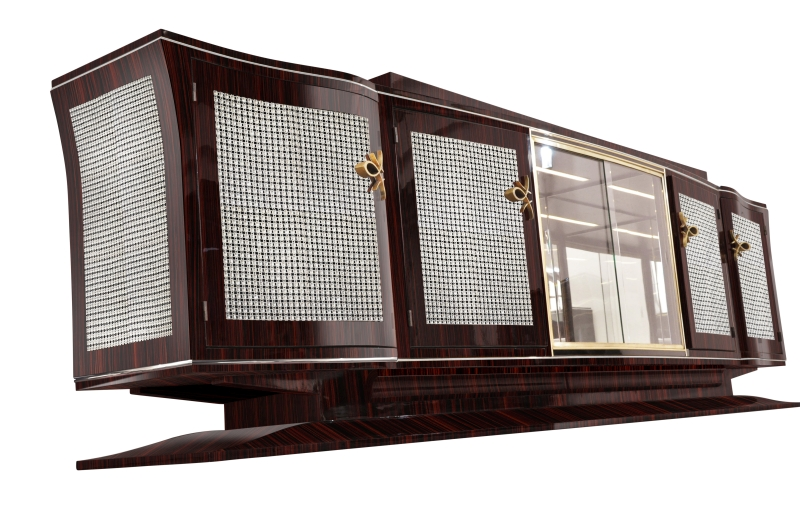 annjoules xxl art deco sideboard aus makassarholz. Black Bedroom Furniture Sets. Home Design Ideas