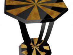 Art Deco, Beistelltisch, Couchtisch, Wohnzimmer, Designmoebel, Klavierlack, Gold, Hochglanz, Handarbeit, vintage, antik, HotelmoebelArt Deco, Beistelltisch, Couchtisch, Wohnzimmer, Designmöbel, Klavierlack, Gold, Hochglanz, Handarbeit, vintage, antik, Hotelmöbel