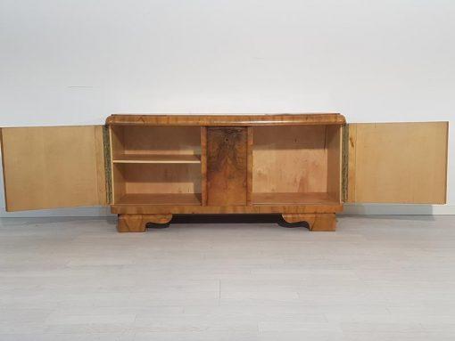 Art Deco, Kommode, Vitrine, unrestauriert, Handarbeit, made in Germany, Wurzelholz, individualisierbar, hochglanz, stillvoll
