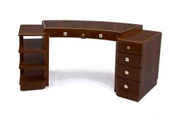 Schreibtisch, Moebel, Wohnzimmer, Frankreich, Art Deco, Makassar, Funier, Stilmoebel, braun, Design, Luxus, klassisch, elegant
