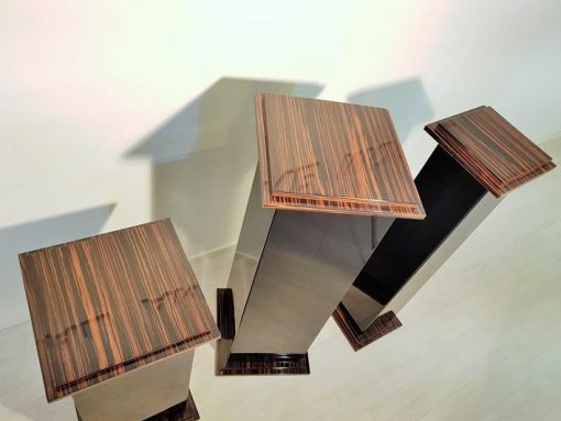 Saeulen, Moebel, Wohnzimmer, Frankreich, Art Deco, Makassar, Funier, Stilmoebel, braun, Design, Luxus, schwarz, Saeule, hochglanz