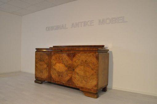 Sideboard, Moebel, Wohnzimmer, Frankreich, Art Deco, Nussbaum, unrestauriert, Stilmoebel, braun, Design, Luxus, klassisch