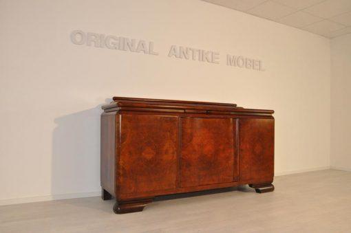 Sideboard, Moebel, Wohnzimmer, Frankreich, Art Deco, Nussbaum, Funier, Stilmoebel, braun, Design, Luxus, Nussbaumholz, unrestauriert
