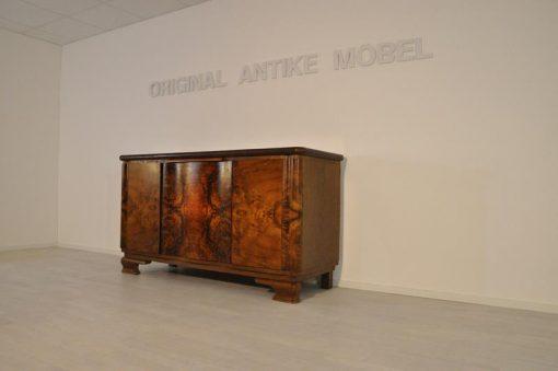 Sideboard, Moebel, Wohnzimmer, Frankreich, Art Deco, Nussbaum, Funier, Stilmoebel, braun, Design, Luxus, unrestauriert, klassisch