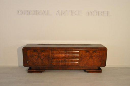 Sideboard, Moebel, Wohnzimmer, Frankreich, Art Deco, Wurzelholz, Funier, Stilmoebel, braun, Design, Luxus, Lowboard, klassisch