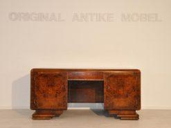 Schreibtisch, Moebel, Büro, Frankreich, Art Deco, Nussbaum, Funier, Stilmoebel, braun, Design, Luxus, klassisch, unrestauriert