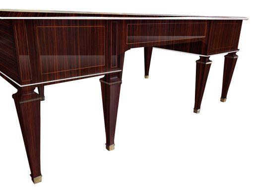 Tisch, Moebel, Wohnzimmer, Frankreich, Art Deco, Makassar, Diplomatentisch, Stilmoebel, braun, Design, Luxus, Lederplatte, Schreibtisch