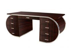 Schreibtisch, Moebel, Wohnzimmer, Frankreich, Art Deco, Makassar, Funier, Stilmoebel, braun, Design, Luxus, massiv, klassisch