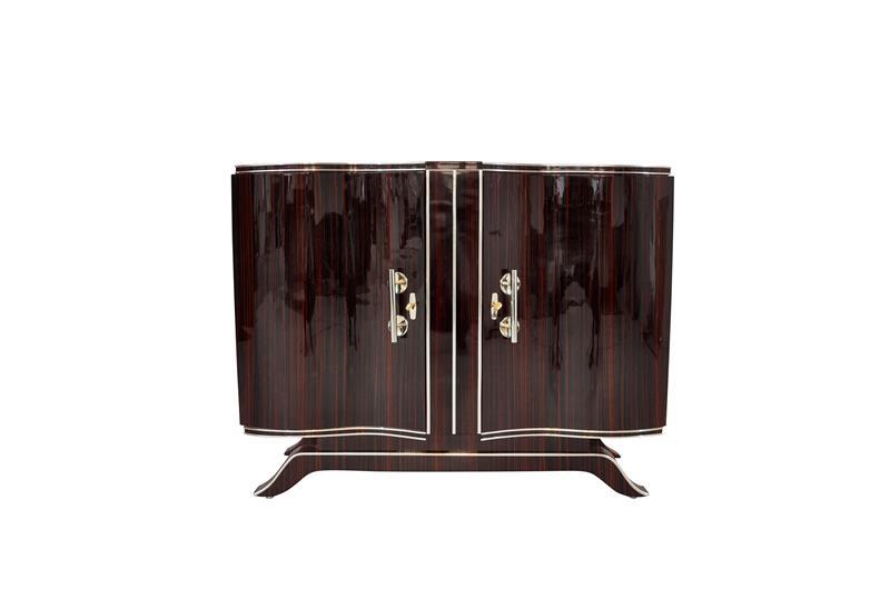 art deco kommode mit serpentinen t ren original antike m bel. Black Bedroom Furniture Sets. Home Design Ideas