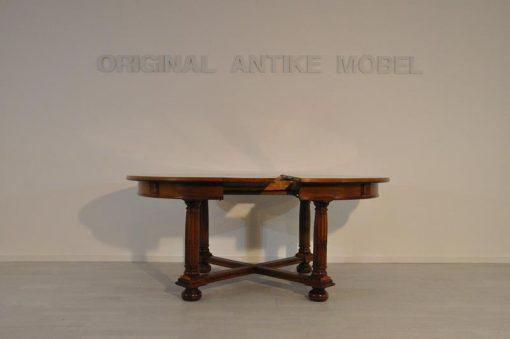 Art Deco, Esstisch, ausziehbar, Walnussholz, unrestauriert, schöne Maserung, original, antik, 1920, individuell anpassbar