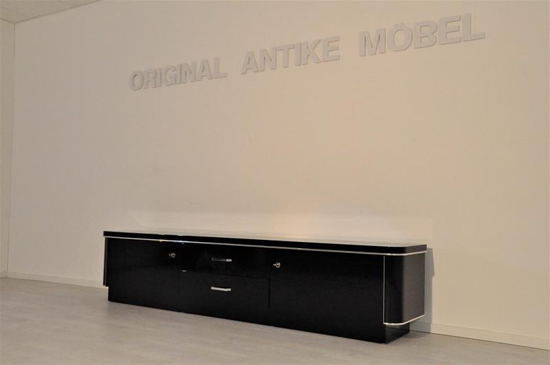 schwarzes art deco lowboard original antike m bel. Black Bedroom Furniture Sets. Home Design Ideas