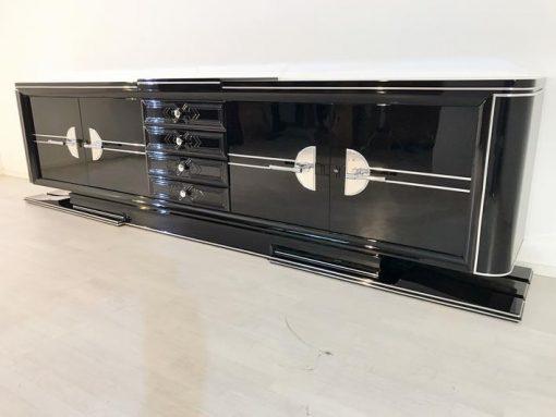 Art Deco, Sideboard, Buffet, XXL, groß, Moebel, Design, Antik, Wohnzimmer, Innendesign, Frankreich, Original, Chromgriffe, Luxusmoebel