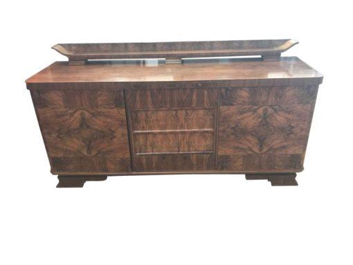 braun, hochglanz, sideboard, art deco, toller fuß, wohnzimmer, Intarsien, lack, Luxus, Furnier, aufsatz, stauraum, design