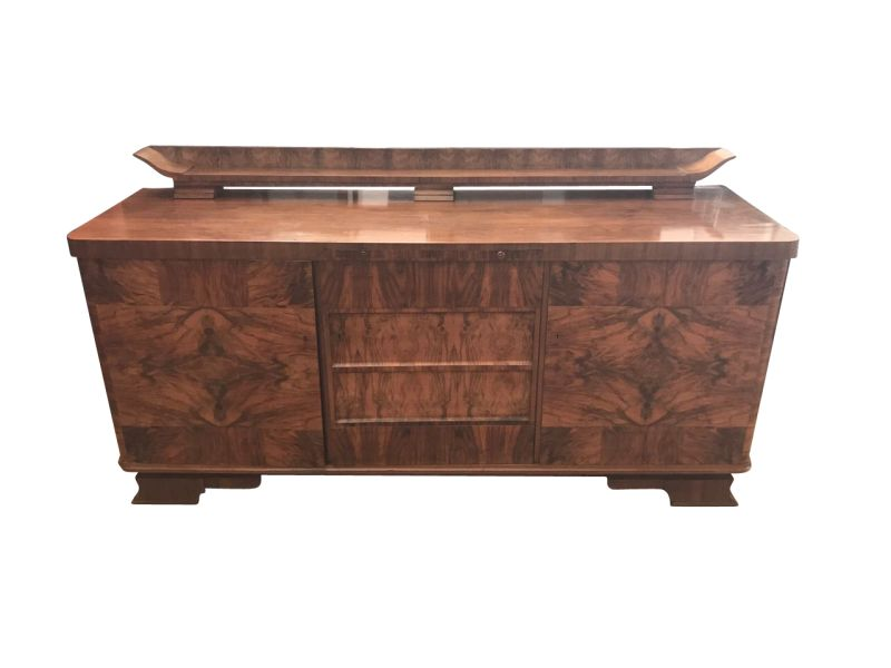 art deco nussbaum sideboard aus frankreich original antike m bel. Black Bedroom Furniture Sets. Home Design Ideas