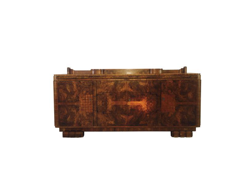 art deco sideboard aus nussbaumholz original antike m bel. Black Bedroom Furniture Sets. Home Design Ideas
