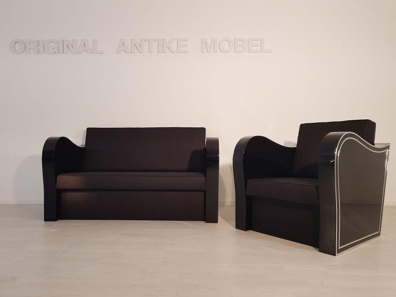 art deco chromliner sofa und sessel original antike m bel. Black Bedroom Furniture Sets. Home Design Ideas