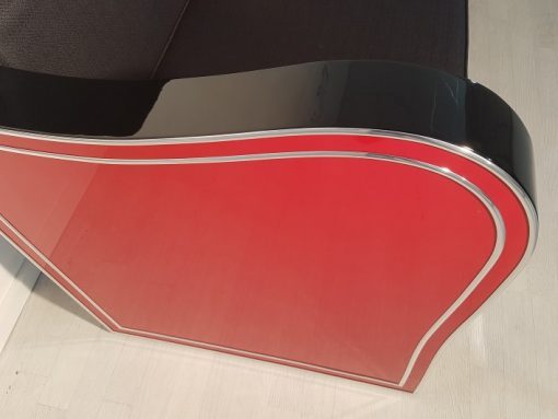 Art Deco, Design, Chromliner, Set, Design, Interior, Llyod Timm, Red, Black, Lacquer, high gloss, Handmade, Furniture