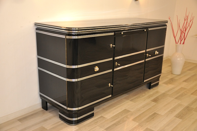 chromliner buffet aus der art deco ra original antike m bel. Black Bedroom Furniture Sets. Home Design Ideas