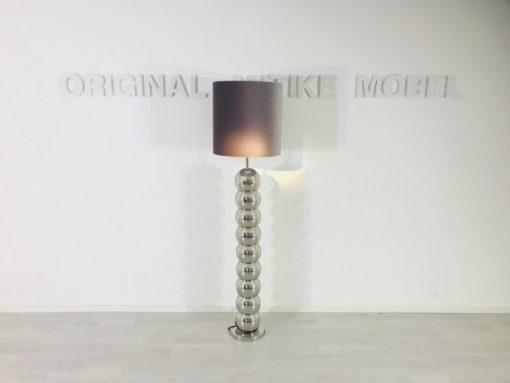 Bauhaus, Lampe, Stehlampe, Design, Beleuchtung, Lampenschirm, Stoff, Chrom, Innendesign, Design, Original, Wohnzimmer, Restauration