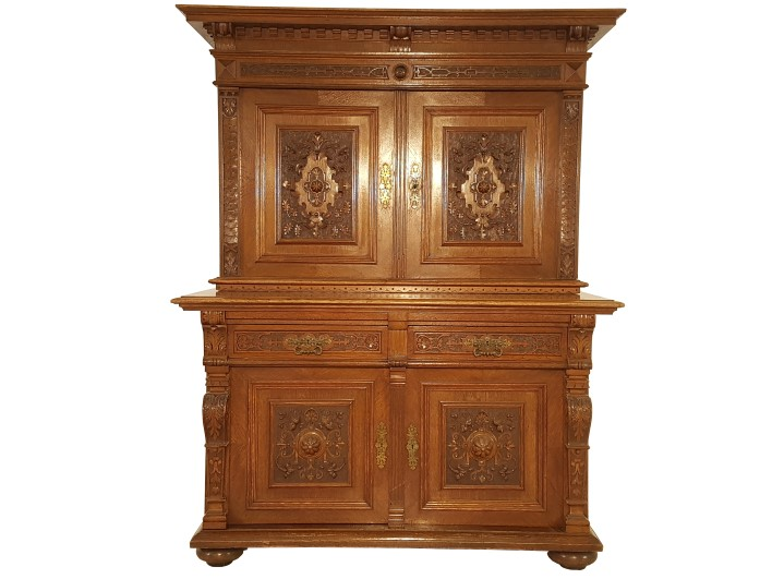 antiker jugendstil buffetschrank original antike m bel. Black Bedroom Furniture Sets. Home Design Ideas