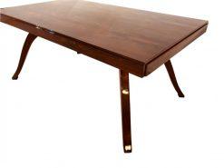 Art Deco, Esstisch, Tisch, Wohnzimmer, Design, Nussbaum, Innendesign, geschwungene Beine, luxus, Interior, Holz, Restauration