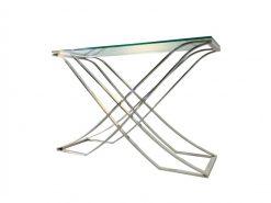Bauhaus, Konsole, Tisch, Konsolentisch, Design, Innendesign, Decor, Chrom, geschwungen, Glasplatte, edel, selten, Wohnzimmer