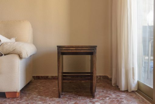 Art Deco, Moebel, Original, Tische, Beistelltische, Schachteltisch, Vintage, Antik, Spanien, 1920, Eciche, Set, Wohnzimmer
