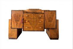 Art Deco, Moebel, Bar, Barschrank, Original, Wurzelholz, Deisng, Innendesign, Schrank, Sideboard, Aufbewahrung, Credenza, Anrichte