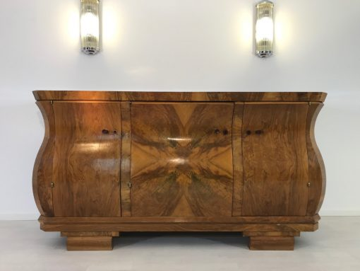 Art Deco, original, Moebel, Frankreich, 1920, Design, Innendesign, Luxus, aufbewahrung, Buffet, Schrank, restauration, Walnuss, Tulpenform