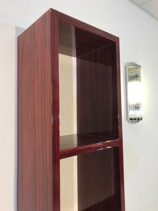 Art Deco, Regal, Aufbewahrung, palisander, rot, Design, Moebeldesign, Innendesign, Qualitaet, Dekoration, Home,Wohnzimmer, Buero
