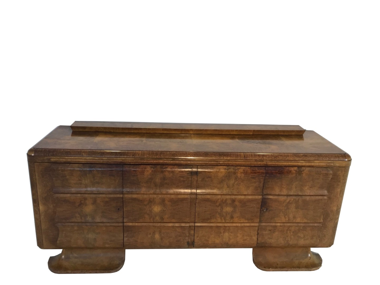 klassisches art deco sideboard aus wurzelholz original. Black Bedroom Furniture Sets. Home Design Ideas