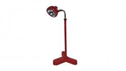 Bauhaus, Arztlampe, Design, Moebel, Beleuchtung, 1950er, Vintage, chabby chick, Stehlampe, Wohnzimmer, Innendesign, Möebeldesign, Rot