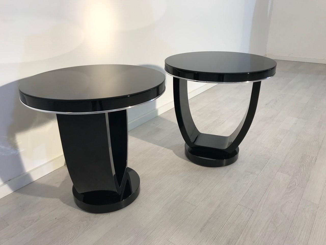 schwarze art deco beistelltische original antike m bel. Black Bedroom Furniture Sets. Home Design Ideas