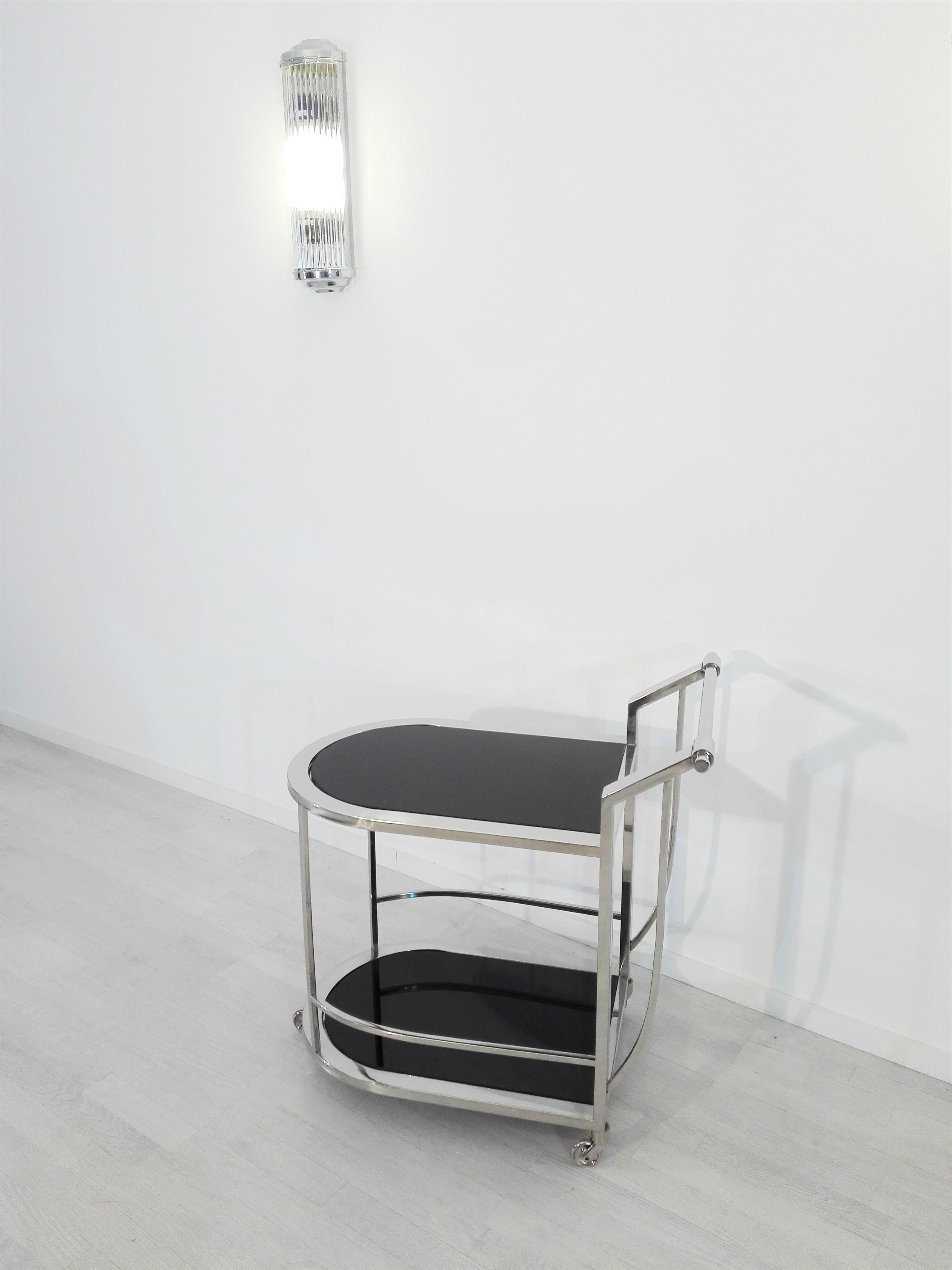 kleiner bauhaus servierwagen original antike m bel. Black Bedroom Furniture Sets. Home Design Ideas