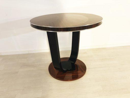 Art Deco Design Palisander Beistelltisch, Tisch, Moebel, Design, Innendesign, Wohnzimmer, Schlafzimmer, Luxus, hochwertig, elegant, Klavierlack