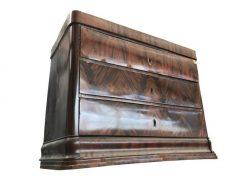 kommode, mahagoni, unrestauriert, braun, toller Fuß, furnier, antik, wohnzimmer, elegant, muster, luxus, groß, stabil, muster