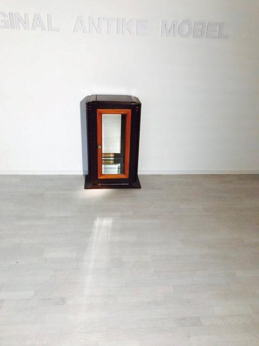 Kleine Art Deco Vitrine aus Makassar-Holz, Antiquitaeten, Design, Edelholz, Innendesign, Luxusmoebel, Design, Restaurierung, Hochglanz, Spiegel