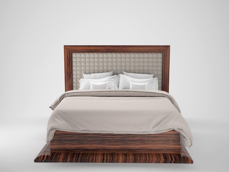 Art Deco Design Makassar Bett - Original Antike Möbel
