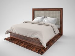 Art Deco Design, Makassar Bett, Holz, Luxusmoebel, Design Moebel, Innendesign, Holzfurnier, Moebel, Schlafzimmer, Individualisierbar