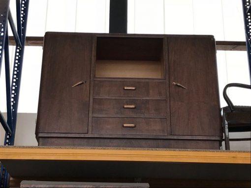 sideboard, tisch, unrestauriert, braun, toller Fuß, furnier, antik, wohnzimmer, elegant, muster, luxus, groß, stabil, muster