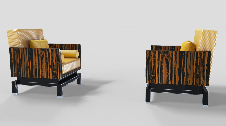 Pärchen Art Deco Design Sessel Original Antike Möbel