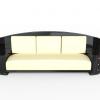 Großes Art Deco Sofa mit Klavierlack, Design, Antiquitaeten, Restauration, Daybed, Frankreich, Chrom, Griffe, Leder, Dreisitzer