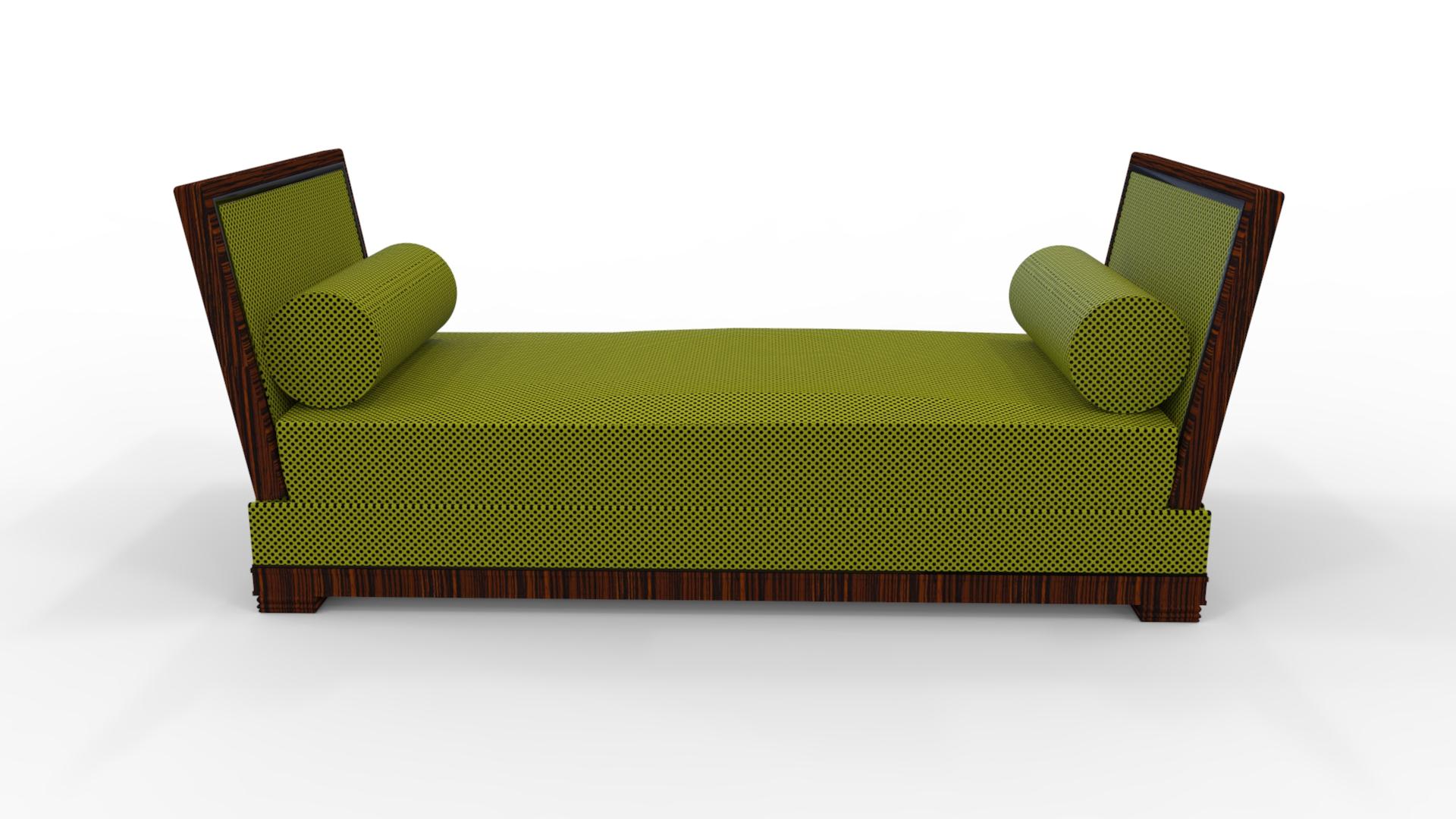 art deco design zweisitzer sofa original antike m bel. Black Bedroom Furniture Sets. Home Design Ideas
