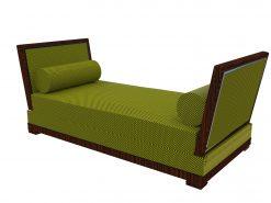 Art Deco Design, Zweisitzer, Sofa, Gruen, Luxus, Kissen, Wohnzimmer, Schlafzimmer, Makassar, Holz, elegant, Innendesign,