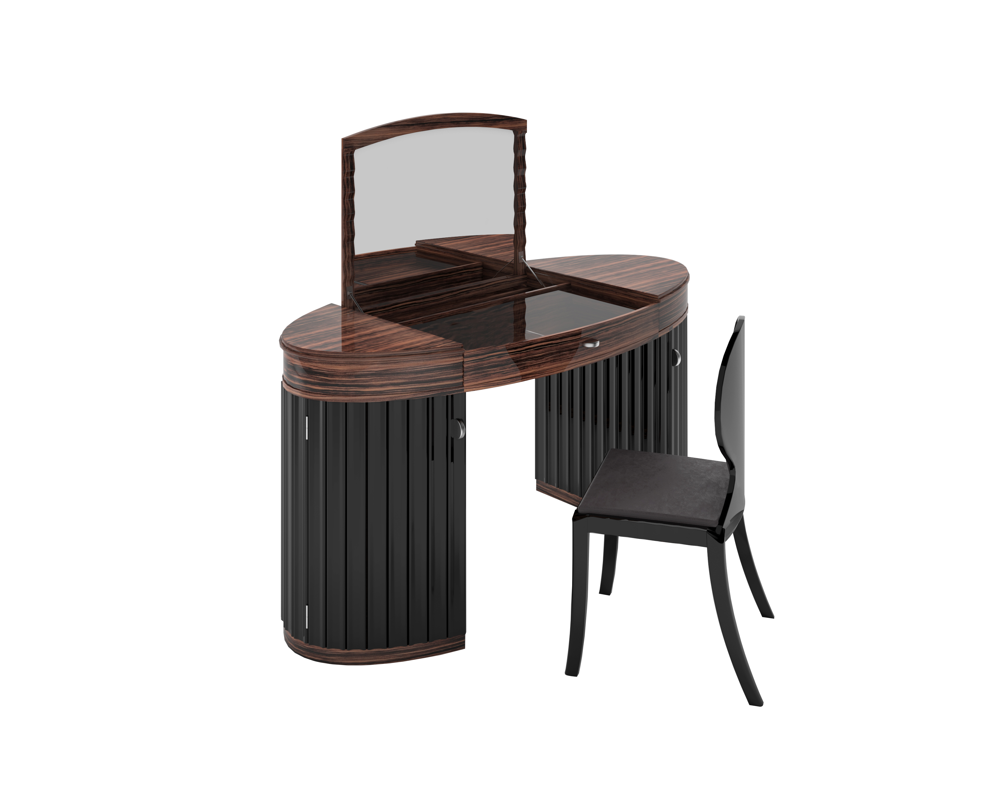 art deco makassar schminktisch original antike m bel. Black Bedroom Furniture Sets. Home Design Ideas