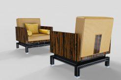 Deco style, Design, Sessel, Sitzmoebel, Moebel, Makassar, maserung, Innendesign, Leder, einzigartig, Wohnzimmer, Luxus, Kissen