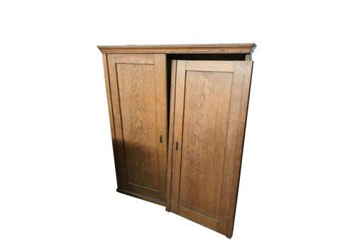 schrank, unrestauriert, braun, toller Fuß, furnier, antik, wohnzimmer, elegant, muster, luxus, groß, stabil, muster, eichen