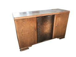 sideboard, unrestauriert, braun, furnier, antik, wohnzimmer, elegant, muster, luxus, groß, stabil, muster, walnuss, tür, walnusstür