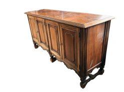 sideboard, unrestauriert, braun, toller Fuß, furnier, antik, wohnzimmer, elegant, luxus, groß, stabil, muster, glas, alt